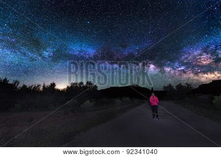 Woman Under The Milky Way