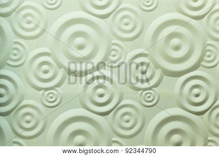 Spiral Ripple White Wall