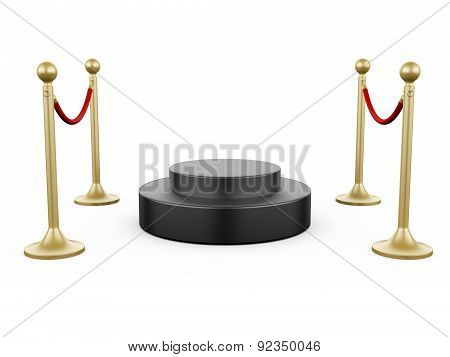 Golden Stanchion And Podium