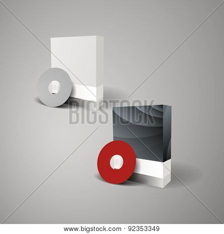 Blank Box Design with CD