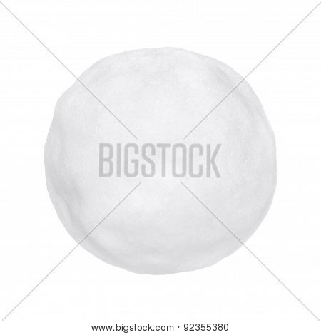 Snowball Or Hailstone On A White Background