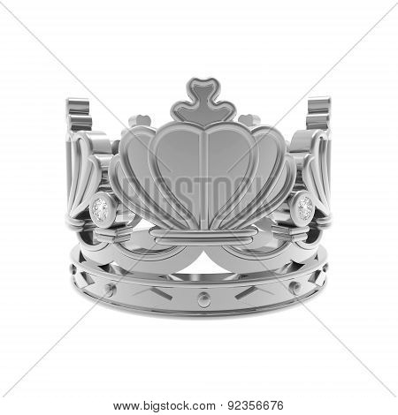 Isolated silver crown