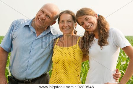 Family Of Three Over A Field