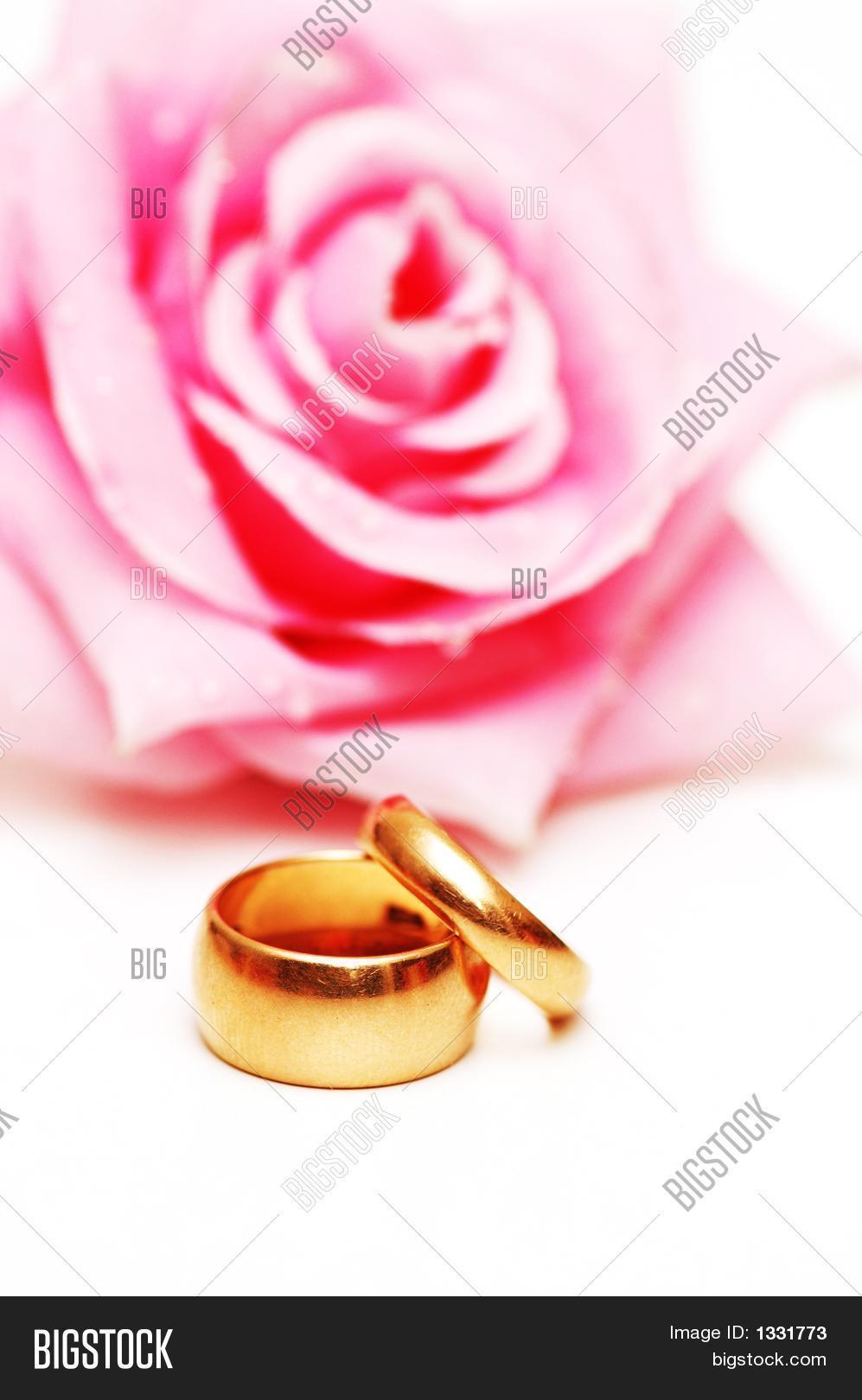 Two Wedding Rings Pink Image & Photo (Free Trial) | Bigstock