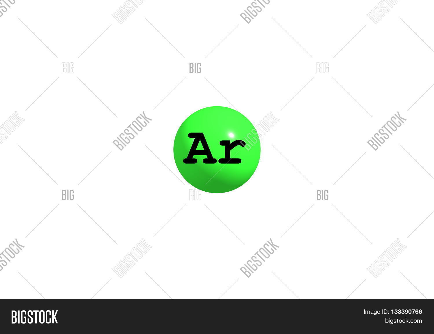 Argon Chemical Element Image Photo Free Trial Bigstock