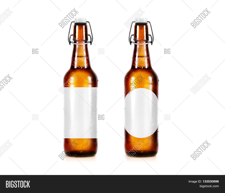 Blank Beer Bottle Mockup Without Image Photo Bigstock - Beer bottle label template