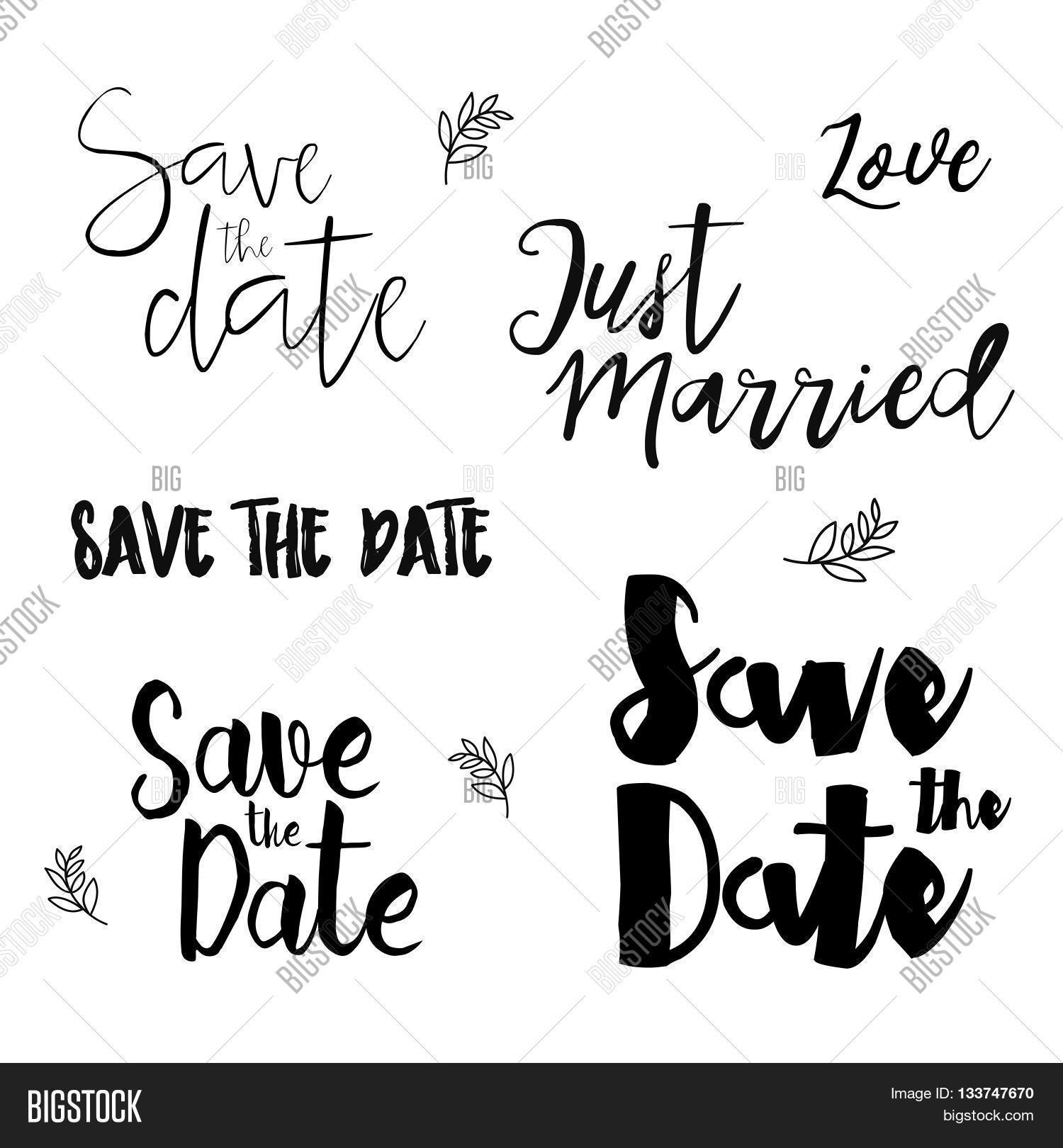 Save Date Wedding Vector & Photo (Free Trial) | Bigstock