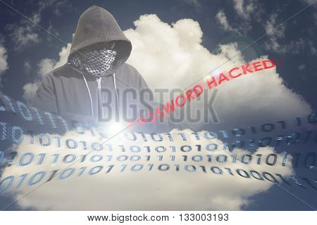 Masked Hacker In The Cloud
