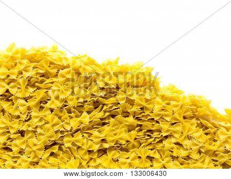 Heap of bowtie pasta