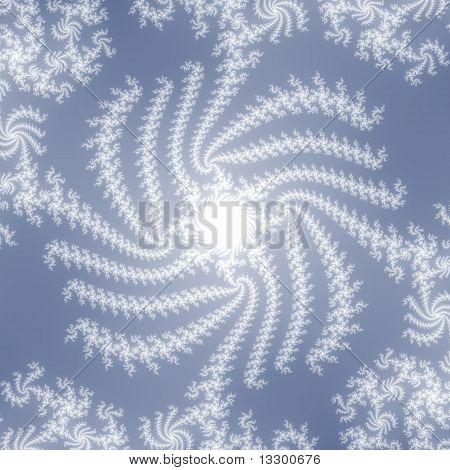 Swirl in White on Wedgwood Blue