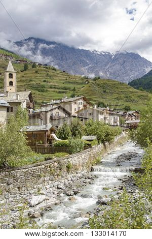 Town In Valtellina, Northern Italy