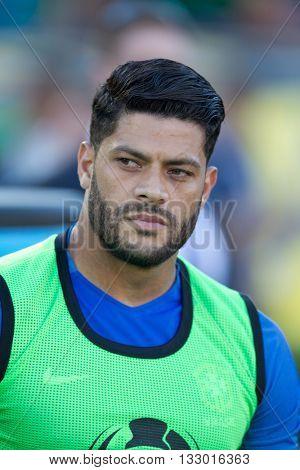 PASADENA, CA - JUNE 4: Hulk during the COPA America game between Brazil & Ecuador on June 4th 2016 at the Rose Bowl in Pasadena, Ca.