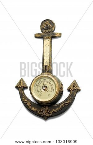 Wall Barometer in the form of an anchor