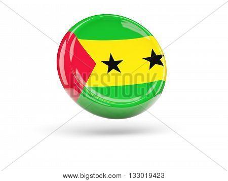 Flag Of Sao Tome And Principe. Round Icon