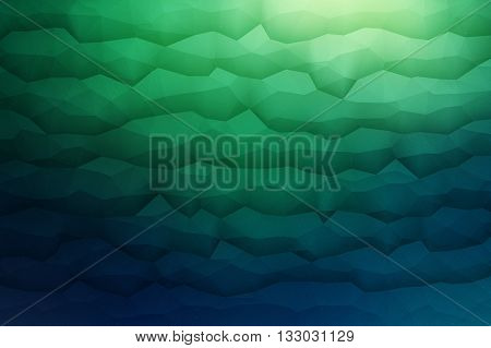 Abstract 3d vector geometrical polygonal waveform structure bright background for design business, print, web, ui and other