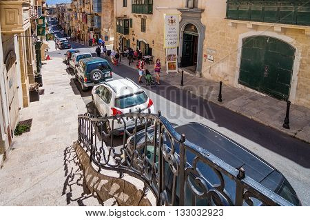 Valletta Malta - May 05 2016:From the streets and alleys of Valletta Malta
