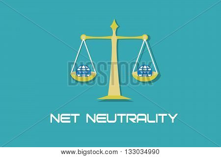 Net Neutrality free internet access illustration vector concept