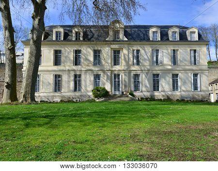 Conflans Sainte Honorine France - april 4 2016 : the Themericourt castle