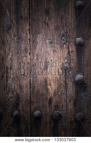 Brown wooden background planks texture. Design of dark wood texture background.