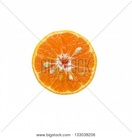 orange fruit isolated on white color backgrond