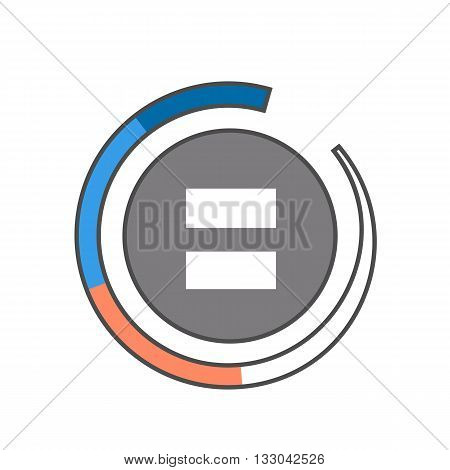 Fader line icon. Colored vector illustration of round fader