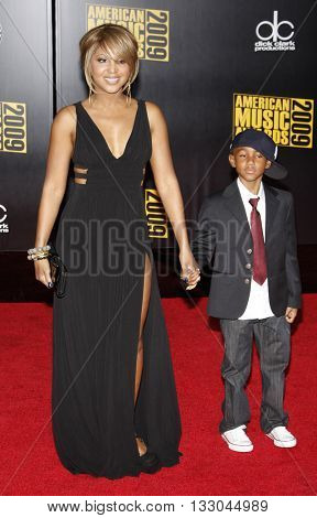 Toni Braxton at the 2009 American Music Awards held at the Nokia Theater in Los Angeles, USA on November 22, 2009.