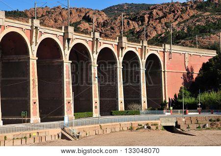 Saint Raphael; France - april 15 2016 : the picturesque Esterel cornice