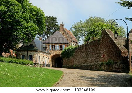ENTRANCE OF CITADEL OF MONTREUIL ON SEA, PAS DE CALAIS, THE NORTH OF FRANCE