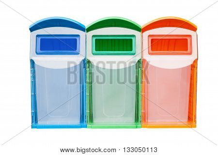 trash cans isolated on white background with clipping path