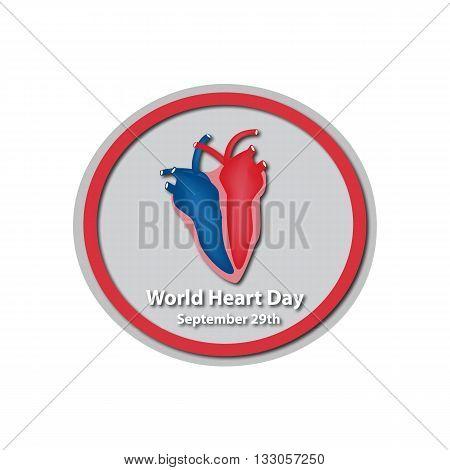 World Heart Day - September 29. A heart. Baner. Infographics. Vector illustration on isolated background.