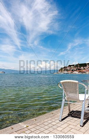 Picture of a Lake Ohrid Macedonia in June