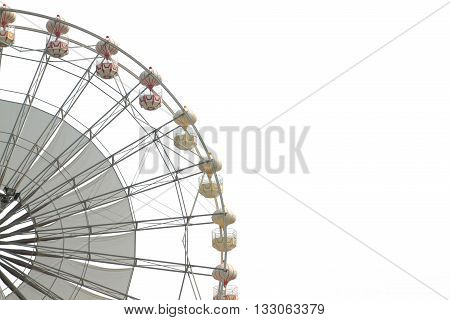 Ferris wheel isolated on white color backgrond