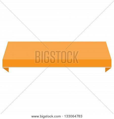 Vector illustration orange shopstore window awning. Awning canopy icon