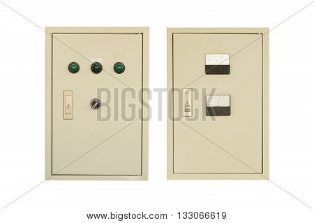 electric control box isolated on white color backgrond