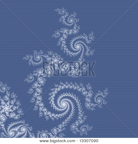 Elegantly Curved Wedgwood Blue Lacy Spirals