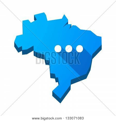 Illustration Of An Isolated Brazil Map With  An Ellipsis Orthographic Sign