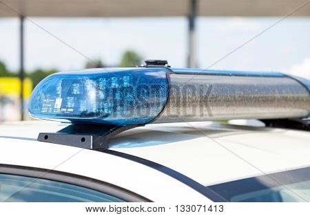 BERLIN / GERMANY - JUNE 4 2016: german police car stands on airport Schoenefeld / Berlin Germany on june 4 2016.