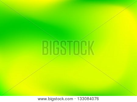 Abstract blur gradient background with trend green, yellow and lime colors for deign concepts, web, presentations and prints. Vector illustration.