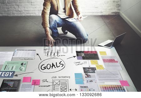 Goals Aim Inspiration Mission Target Vision Concept