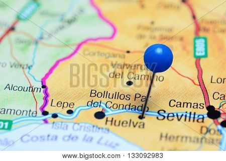 Bollullos Par del Condado pinned on a map of Spain