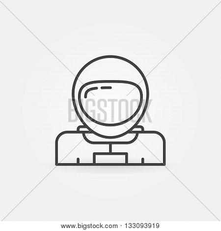 Astronaut simple icon - vector thin line space astronaut symbol or logo element