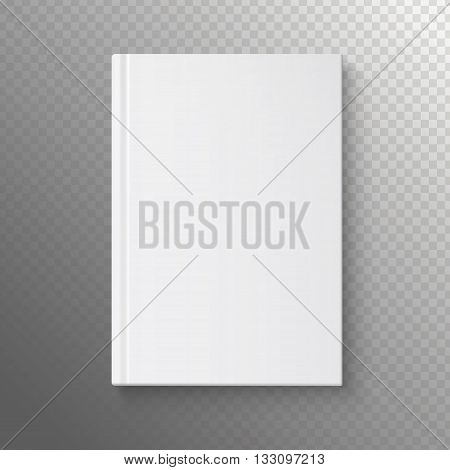 White book on a transparent background. Vector illustration of the book business. Pattern books for web. White book template.