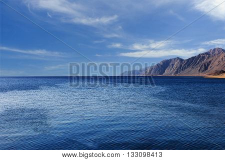 Red sea with clouds aroun Dahab, Sinai, Egypt
