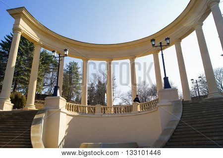 Kislovodsk, Russia - 1 March, Architectural and historical complex, 2016. Resort zone Mineral Waters, Krasnodar region.