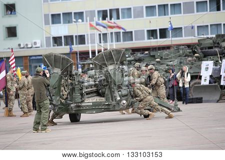 Military Equipment And Soldiers Of 2Nd Cavalry Regiment In Daugavpils