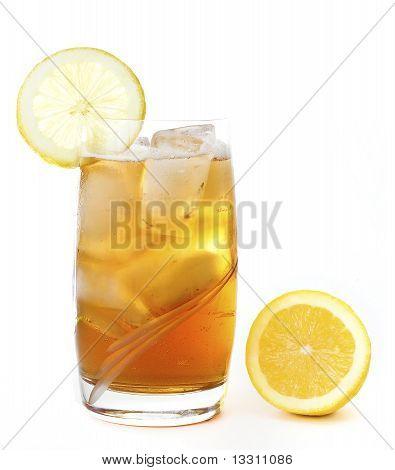 Ice Lemon Tea Isolated