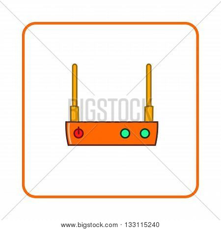 Modem icon in simple style on white background. Device symbol