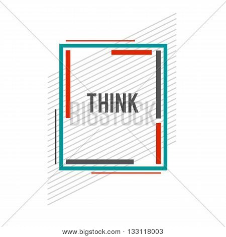 Constructive frame. Vector flat frame. Abstract shape. Vector modern frame. Website design. Material design gteen frame