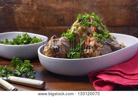 Roasted Lamb Shank Casserole