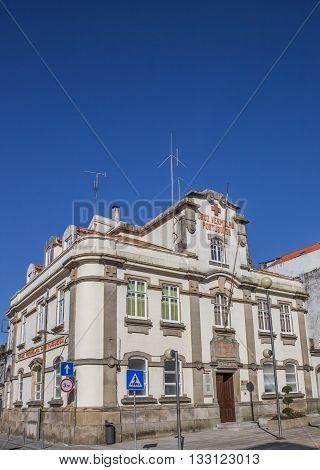 VIANA DO CASTELO, PORTUGAL - APRIL 25, 2016: Building of the red cross in Viana do Castelo, Portugal